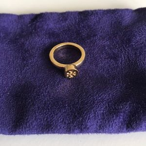 Tory Burch Gold Logo Ring Size 6